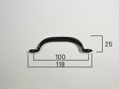 画像2: Screen Door Pull Black